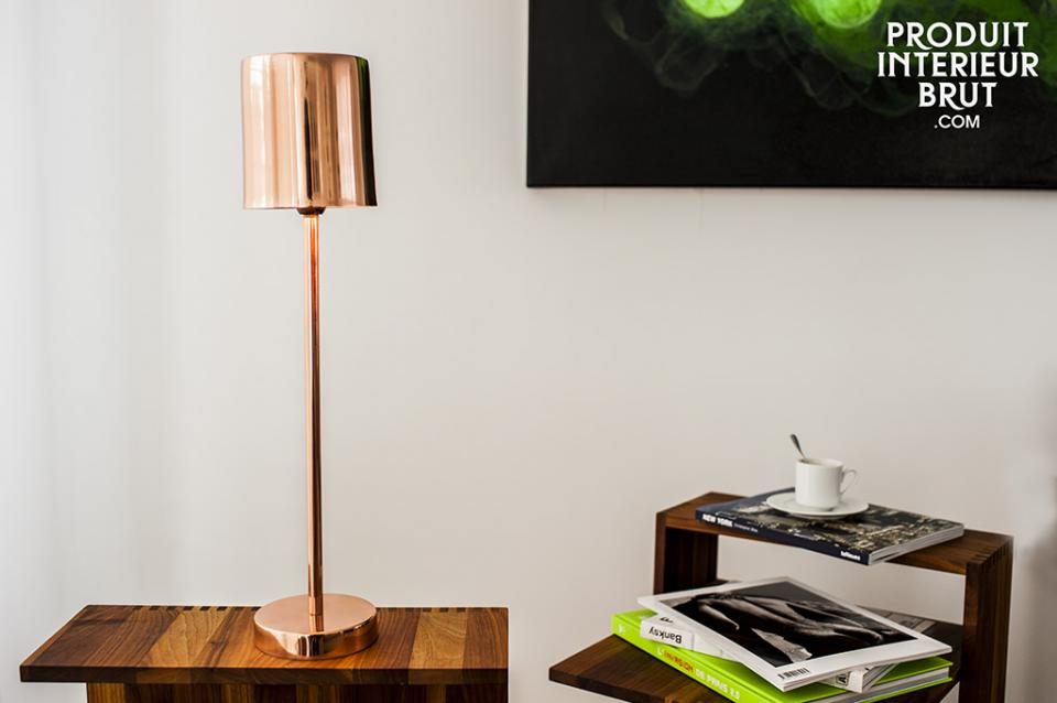 Lampe Gryde au design scandinave cuivré